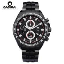 Hombres Reloj de Cuarzo de Moda Deportiva Reloj LuxuryBrand CASIMA Luminosa Cronómetro Cronómetro A Prueba de agua 100 m Relojes de Pulsera #8101