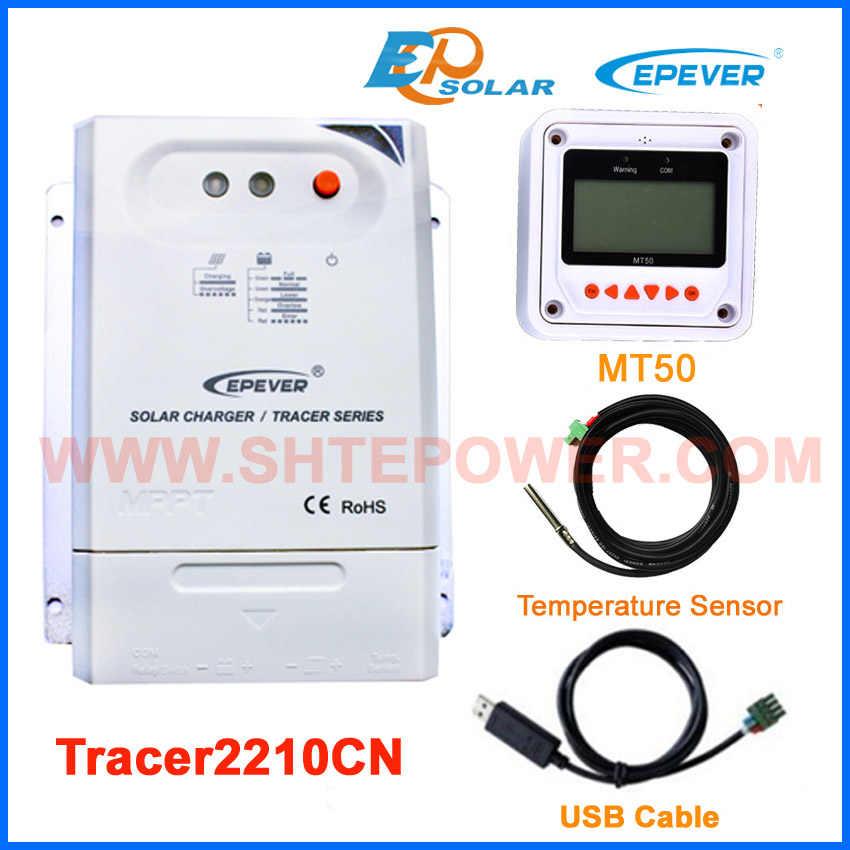 Tracer2210CN con medidor remoto MT50 blanco EPEVER controlador de carga de batería solar 20A 20amp 12 v 24 v auto work