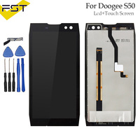 Black For Doogee S50 LCD Display+Touch Screen Assembly 5.7 Inch For Doogee S50 Mobile Phone Accessory With Tools And Adhesive