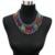 Boemia Borla Colares Declaração de Acrílico Liga de Zinco Na Moda Chunky Mulheres Colar Grande Collares Gargantilhas Colares Colar Do Vintage