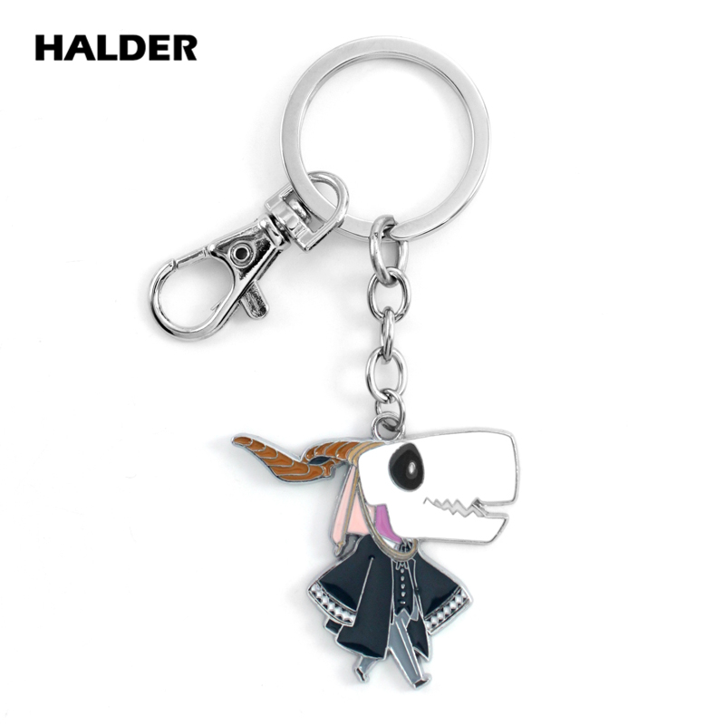 HALDER Japanese Anime Elias Ainsworth Keychain Funny Novelty Metal Pendant Key Chains Jewelry Accessories Portachiavi Key Ring