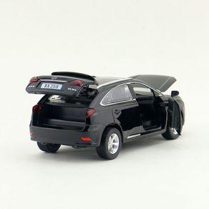 Image 5 - Scala 1:32 Lexus RX350 SUV Sport Toy Car Diecast modello di veicolo tirare indietro suono e luce collezione educativa regalo per bambino