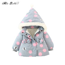 5BAGS Snowsuit 0-3Y Girls Thicken Clothes Snow Wear Long Sleeve Thick Warm Girl Hooded Kids Outerwears(China)