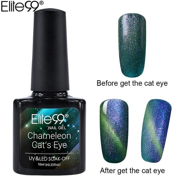 Elite99 Nail art Magnetische Chameleon Cat Eye Gel Nagellack Professionelle Magnet Star Cat Augen Gel Für Nägel Maniküre Lack