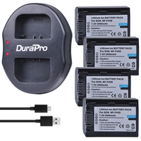 4 NP FH50 for Sony NP FH50 Digital battery+USB Charger for Sony A230 A330 A290 A380 A390 HDR TG1E TG3 TG5 TG7 DSC HX1 DSC HX200