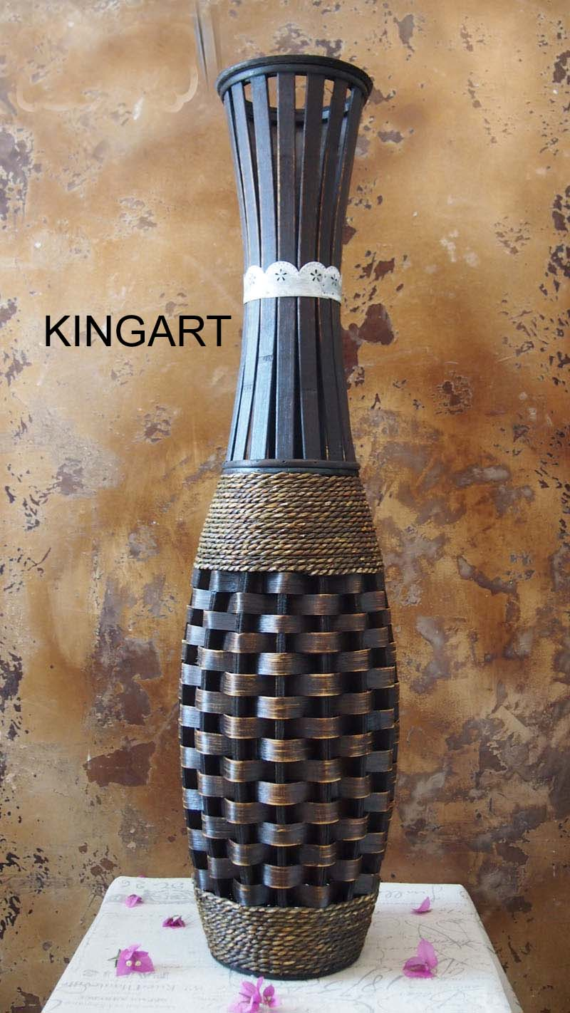 Large floor vase kingart bamboo big floor vase vintage retro large floor vase kingart bamboo big floor vase vintage retro living room home decor craft flower vase decoration in vases from home garden on reviewsmspy