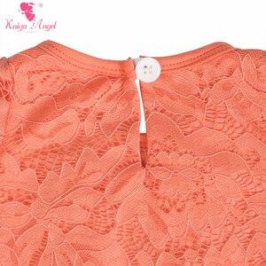 Image 5 - Kaiya Angel Newborn dziewczyny z długim rękawem brzoskwinia koronki Romper dla dzieci moda dla dzieci jesień w stylu Ruched kombinezon fabryka hurtownie jeden kawałek