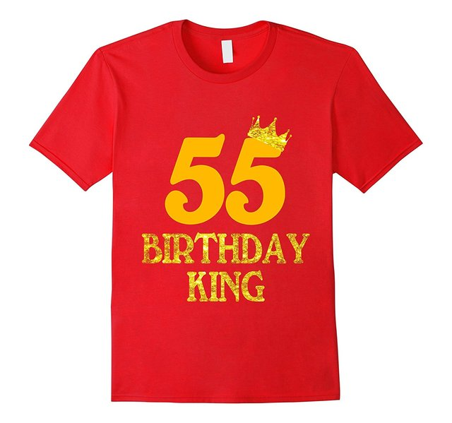 55th Birthday King T Shirt 55 Years Old Gift