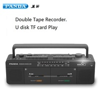 PANDA F 539 double tape campus radio students learning a foreign language karaoke radio repeater radio cassette recorder