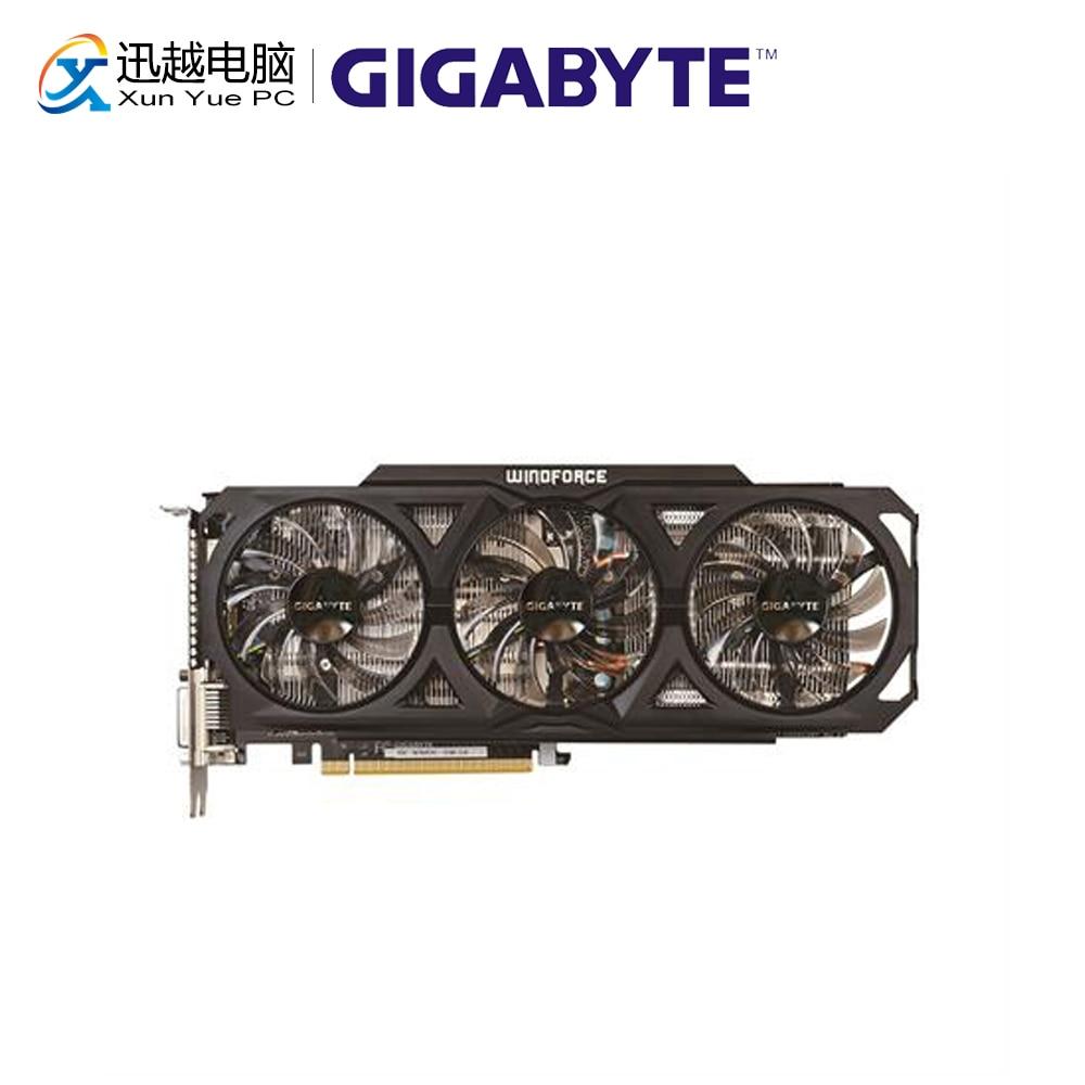 Gigabyte GV-N760OC-2GD Graphics Cards 256bitbit GTX 760 2 GB GDDR5 HDMI VGA For Nvidia Geforce GTX 760 Original Used Video Card
