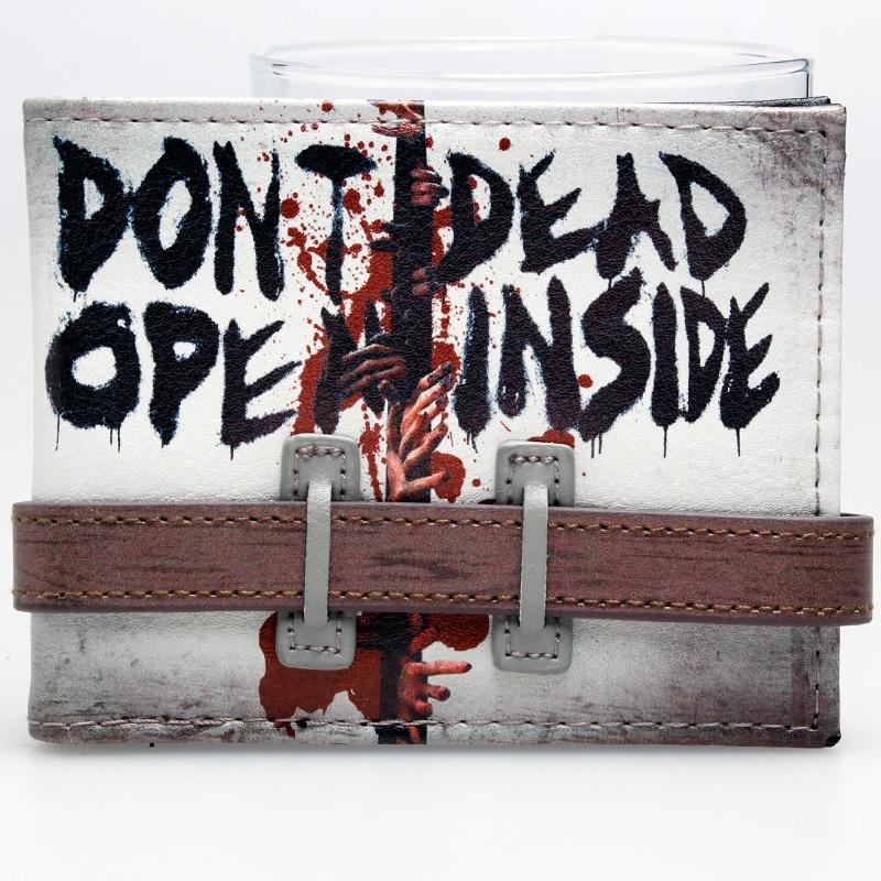 Walking Dead Don't Open Bi-Fold Wallet  DFT-2016 captain america black metal badge bi fold wallet faux leather dft 1413