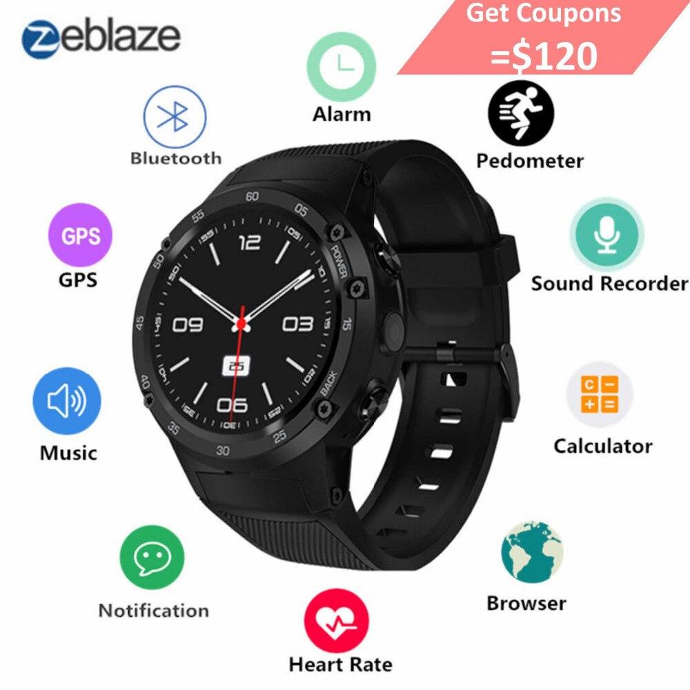 Zeblaze THOR 4 Flagship 4g LTE GPS SmartWatch Android 7.0 MTK6737 Quad Core 1 gb + 16 gb 5.0MP 580 mah 4g/3g/2g di Dati di Chiamata Della Vigilanza Degli Uomini