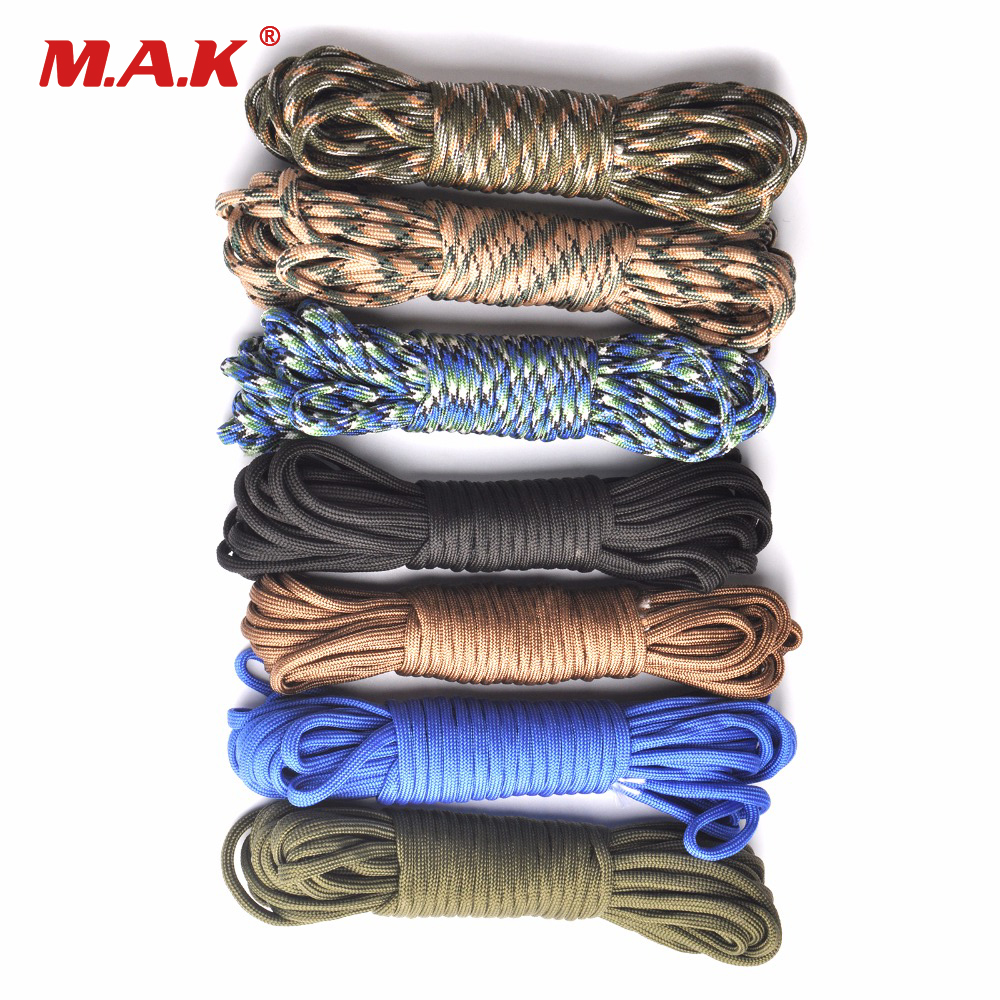 550 Paracord Parachute Cord Lanyard Rope Mil Spec Type III 7 Strand 100FT Climbing Camping Survival Equipment iqiuhike multifunction parachute 550 popular type iii 7 strand paracord cord lanyard mil spec core 100ft camping survival tool