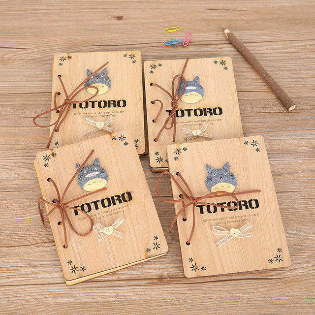 Cute Totoro Wooden Book Diary Series III