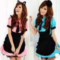 New Blue pink cheap hot sale Japanese style ladies maid waiter cosplay uniform lingerie Halloween Costumes