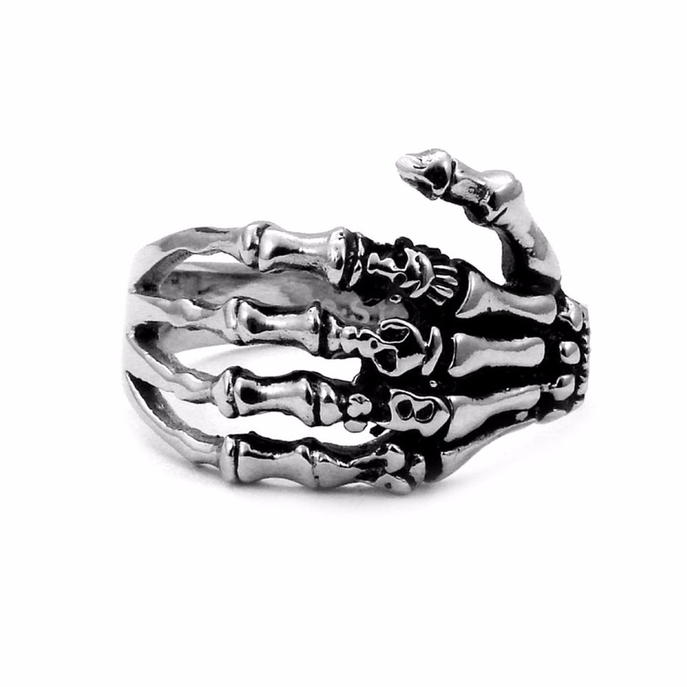 skeleton treasure couture jewel anatomical jewellery silver stack rings fish metal sterling product