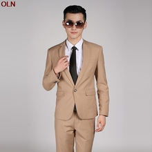 2017 new men pure color suits the groom Cultivate one's morality (hum) its color wedding dress wedding wedding suit
