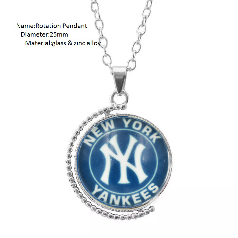 10 PCS Latest NY Yankees Baseball Team Earring Dangle Shoe buckle Necklace Ring Series Jewelry