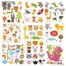 ZOTOONE милый комплект с животными в полоску, железные нашивки на одежду, сделай сам, нашивка с теплопередачей для одежды для детей, наклейка в подарок G