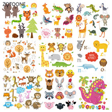 Zotoone Leuke Dier Set Strepen Iron On Transfer Patches Op Kleding Diy Patch Warmteoverdracht Voor Kleding Voor Kids Sticker gift G(China)