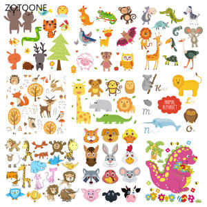 ZOTOONE Iron-On-Transfer-Patches Sticker Animal-Set Diy-Patch Heat-Transfer Gift-G Stripes