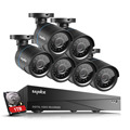 SANNCE 5in1 1080N 8CH HDMI DVR 720P IP66 In/Outdoor Security Camera System 1TB