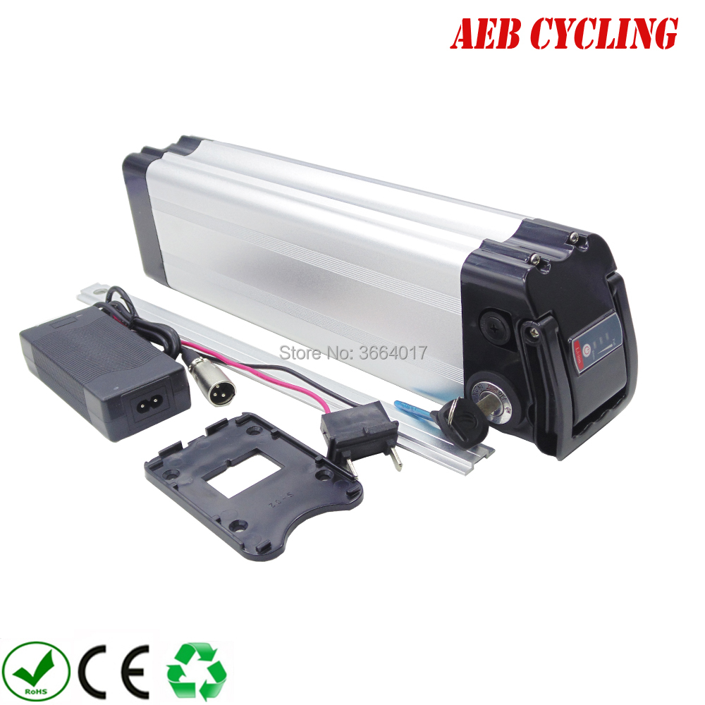 Free Shipping And Taxes To EU US 24V 20Ah Lithium Ion Ebike Battery Pack Silver Fish Electric Bicycle Battery