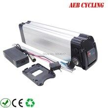 Бесплатная доставка и налоги в ЕС США 24 В 20Ah литий-ионный аккумулятор ebike Серебряная рыба Электрический велосипед батарея