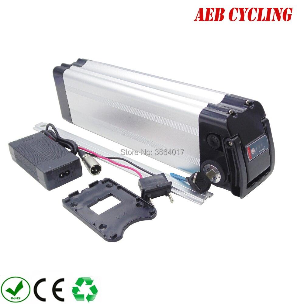 Livraison gratuite et taxes à l'ue US 24 V 20Ah Lithium ion ebike batterie pack argent poisson électrique vélo batterie