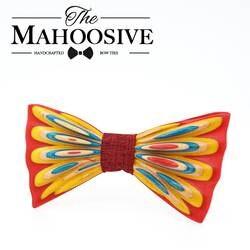 MAHOOSIVE деревянные галстуки-бабочки для Для мужчин Для женщин best качество многоцветный дерево бабочкой 3D ручной работы бабочка дерево