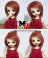 "Hot Sale 5-6"" 14cm BJD Farbric Fur Wig Brick Red For 1/8 BJD AE PukiFee lati"