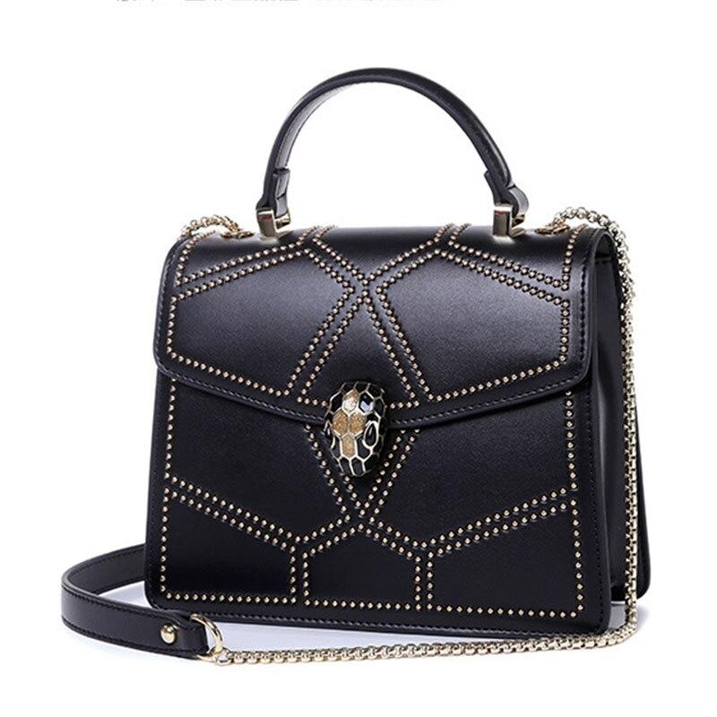 Zomer tassen vrouwen echt lederen handtassen keten kleine vrouwen ... 698bbbe0d7