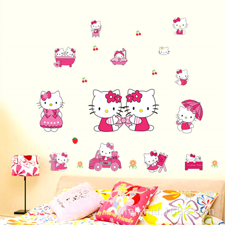 Hello Kitty Home Decor: Girls Favorites Hello Kitty Stickers Home Decor Nursery