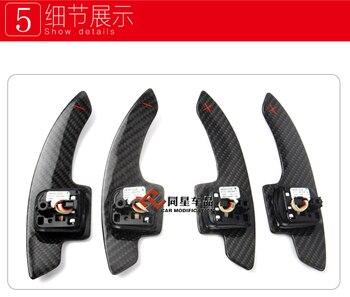 Ajuste para audi A3/A4L/A5/Q3/Q5/TT/S3/A6 de fibra de carbono perilla de cambios