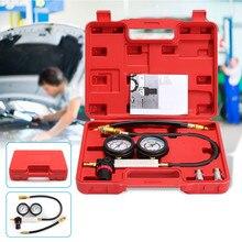 0-100PSI тестер утечки цилиндра компрессионный детектор утечки комплект бензиновый манометр двигателя инструмент двойной измерительный прибор системы автомобильные инструменты