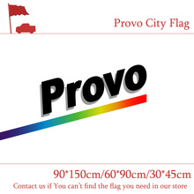 Free shipping 1985-2015 Provo City Flag 3x5ft 90*150cm 60*90cm Flag 30*45cm Car Flag For Campaign Vote Event Office free shipping little canada city flag 3x5ft banners with brass metal holes 30 45cm car flag 90 150cm 60 90cm flag for vote event