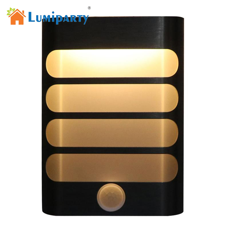 LumiParty Rechargeable Night Light with Motion Sensor LED Wireless Wall Lamp Night Auto On/Off for Kid Hallway Pathway Staircas motion sensor led night light smart human body induction nightlight auto on off battery operated hallway pathway toilet lamps