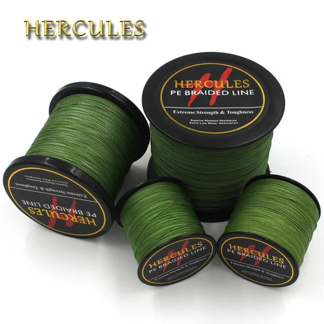 Best Price Hercules PE Army Green Braid Fishing Line 4 Strands 100M 300M 500M 1000M 1500M 2000M Sea Fishing Weave Super Strong Threads