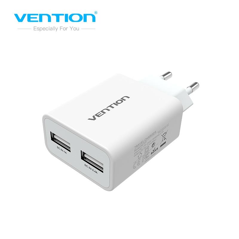 Vention стены Зарядное устройство мобильного телефона Зарядное устройство 5 В 3.4a сетевой адаптер 2 Зарядка через <font><b>USB</b></font> Порты и разъёмы для Samsung Galaxy &#8230;
