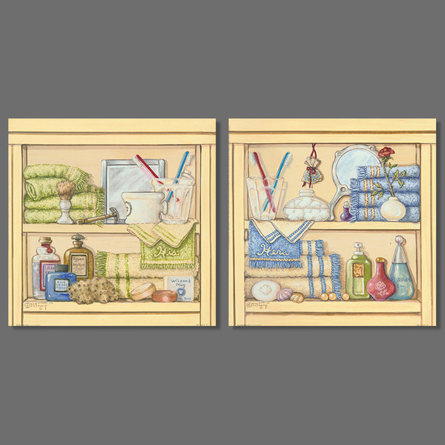 2 Pcs Ensemble Salle De Bains Decoration Casiers Brosse A Dents