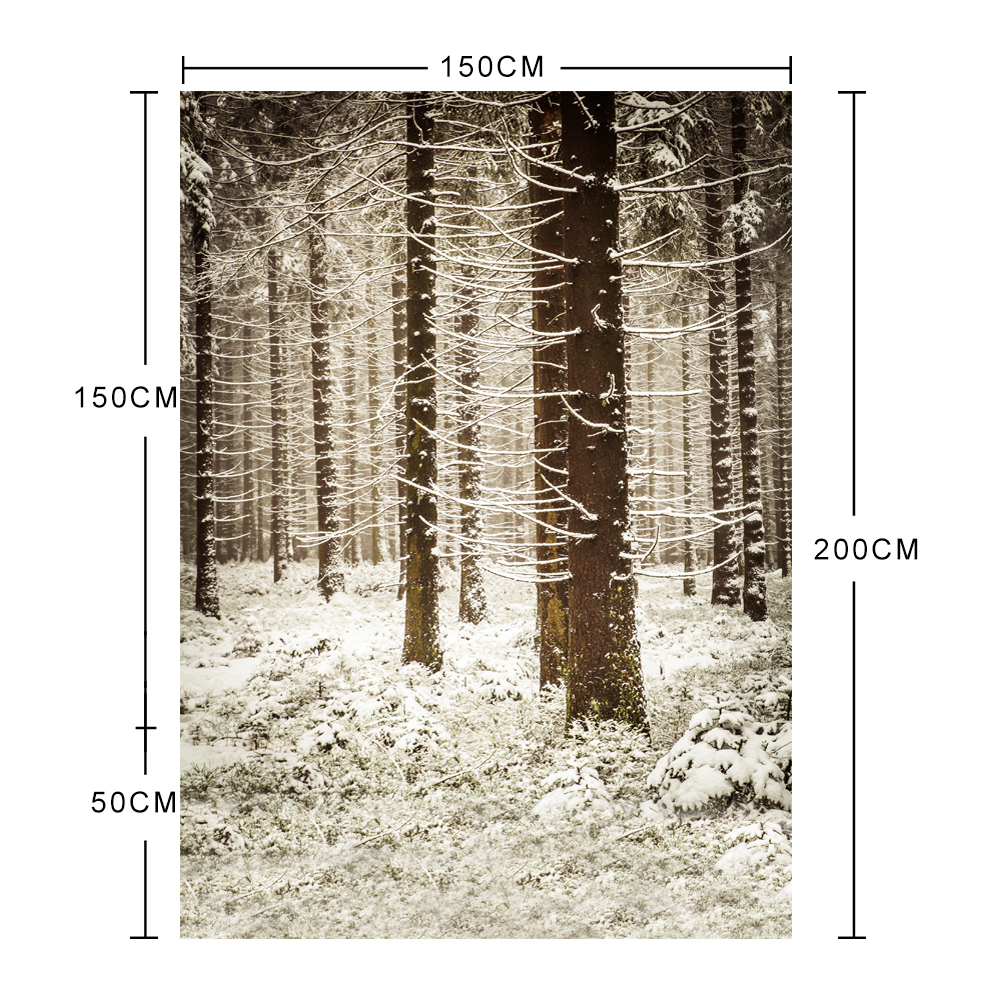 Weißer Schnee Forest Trees Photo Studio Photography Backdrops Vinyl - Kamera und Foto - Foto 6