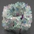 Strand Natural De Cristal de Quartzo Gem Stone Chip Bead Handknitted Pulseira Elástico