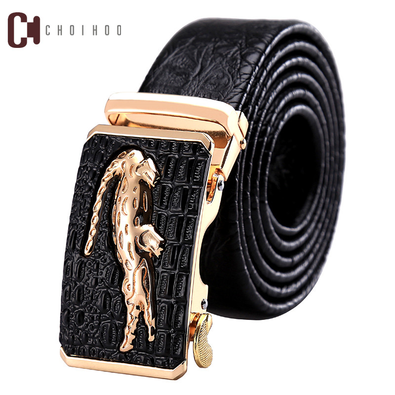 Designer   Belts   Men High Quality Male Genuine Leather Strap Luxury Famous Brand Logo Crocodile Silver Gold Ceinture Homme 251
