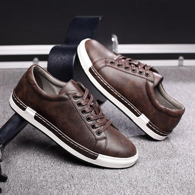 Retro Lace Microfibra Calçado Brown Handmade Jnngrior Couro preto Homens Flats Marca amarelo De Casuais Sapatos cinza Sólida Respirável Mens up 0w8qO