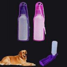 ae09bac9a4d927 Na zewnątrz podróży przenośne pies Pet karmienia plastikowa butelka do wody  do picia fontanny dozownik podajnik 250 ML