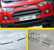 For Ford EcoSport 2013 2014 2015 2016 ABS Chrome Front Grill Around Cover Trim new