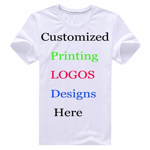 Custom Printing T-Shirt Personalized Designer logo mens unisex Children Family  Customized t shirt Advertising Cotton tshirt tees