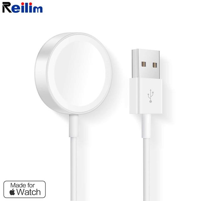 77097ae368f Reilim 1 m Cable de carga magnética cargador inalámbrico para cargador con MFI  certificado para Apple