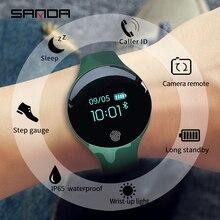 SANDA Bluetooth פדומטר ספורט חכם שעון רך סיליקון חכם מגע מרחוק מצלמה שעונים עבור IOS אנדרואיד תזכורת עמיד למים
