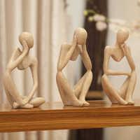 Europa Abstrato criativo Casa Decoração Enfeites de Mesa de Escritório Estatuetas de Arte & Miniaturas Sala de estar Mobiliário Decoração